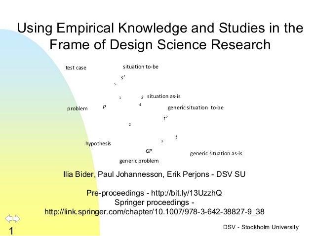empirical expertise example