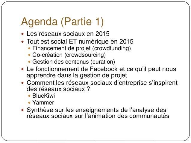 Des réseaux sociaux aux réseaux sociaux d'entreprise (2015) Slide 2