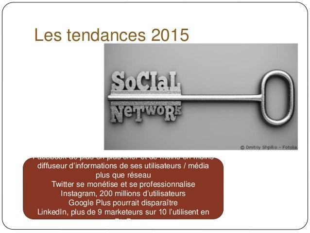 Des réseaux sociaux aux réseaux sociaux d'entreprise (2015) Slide 3