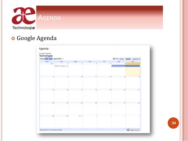 AGENDA  Google Agenda 34
