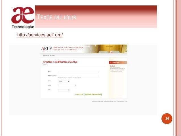 TEXTE DU JOUR http://services.aelf.org/ 36