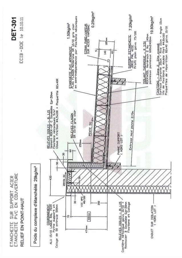 dessin ecib etancheite pvc sur support bac acier. Black Bedroom Furniture Sets. Home Design Ideas