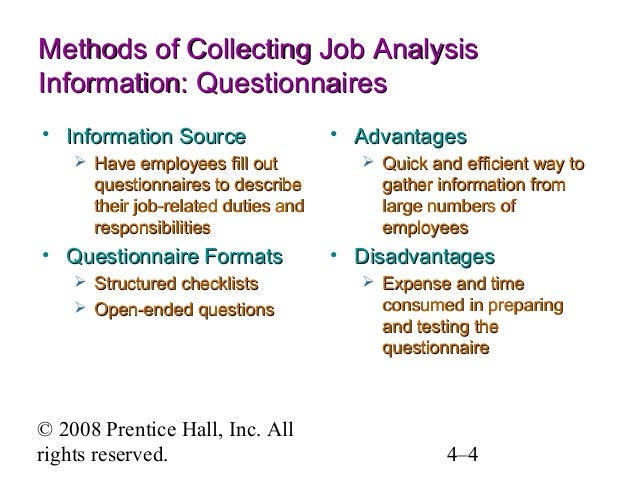 Job Analysis ( Chapter 4 )