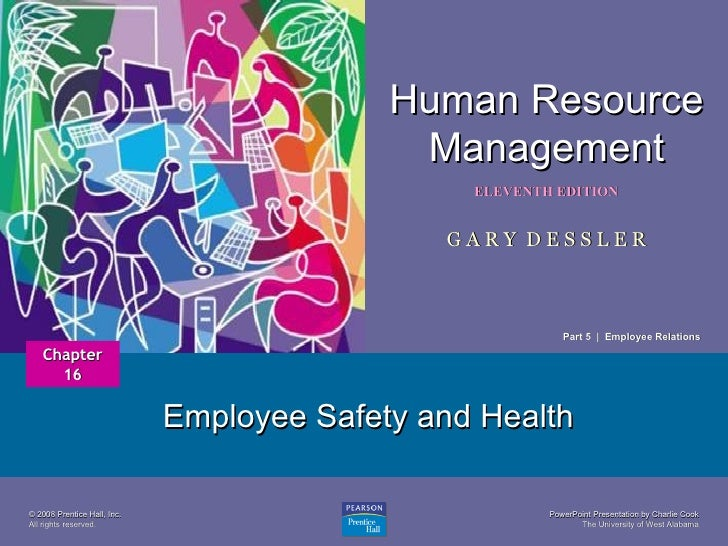 Employee Safety and Health Chapter 16 Part 5  |  Employee Relations