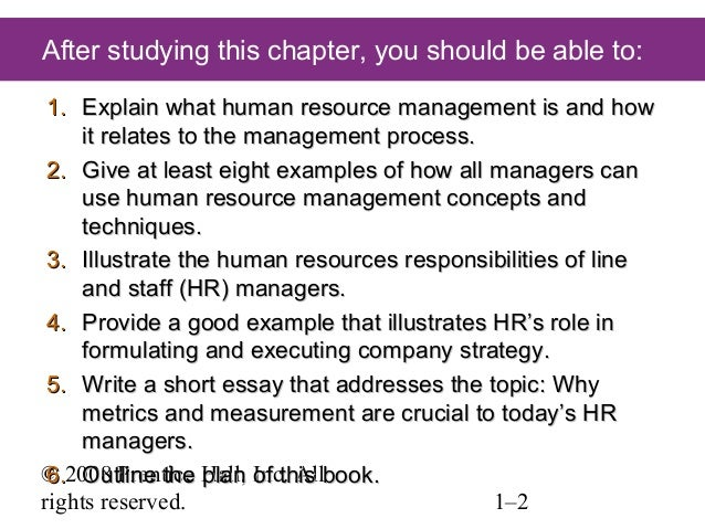 essay questions on hrm Human resources midterm essay questions  three major roles of hr  management are recruiting and hiring, orientation and training, and.
