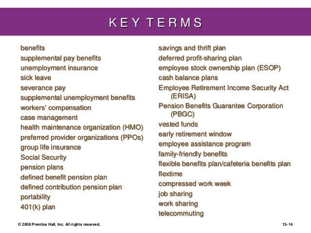 Dessler ch 13-benefits and services