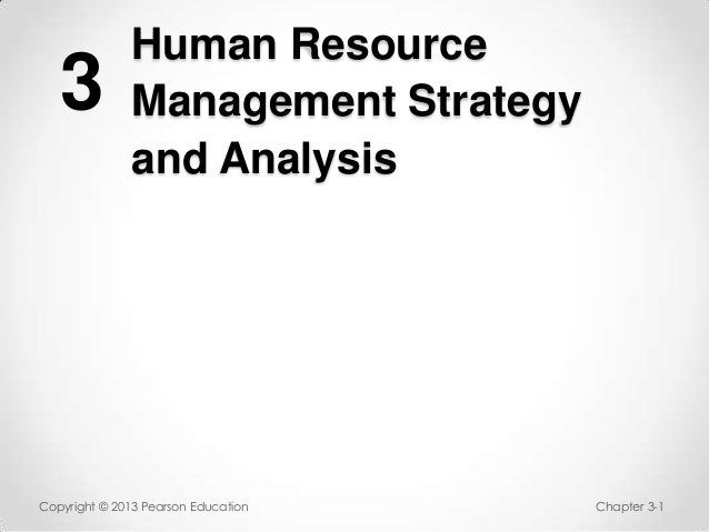 HR strategy and analysis