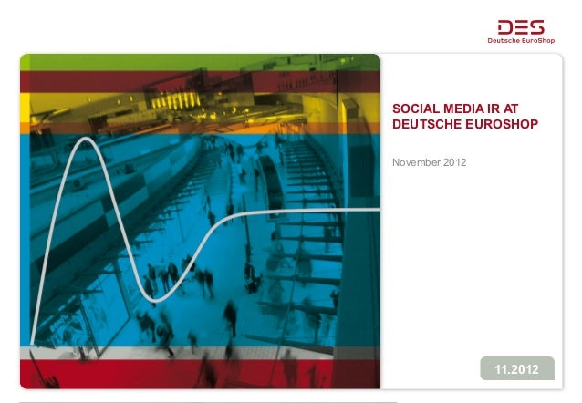 SOCIAL MEDIA IR ATDEUTSCHE EUROSHOPNovember 2012                11.2012