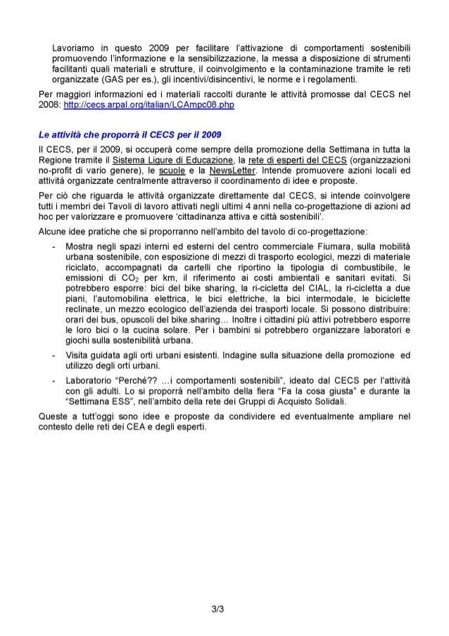 2009: Considerazioni sulle attività della Commissione per il 2009 e sul tema 'Città e cittadinanza' attraverso le attività...