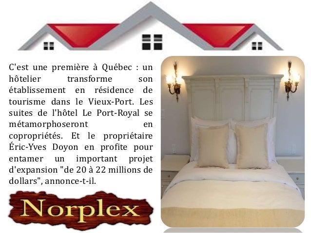"""""""Le marché des résidences de tourisme est en plein développement au Québec"""", dit- il. Or, les zones où la location de copr..."""