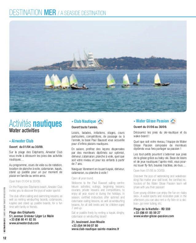 DESTINATION MER / A SEASIDE DESTINATION                                                            Activités nautiques    ...