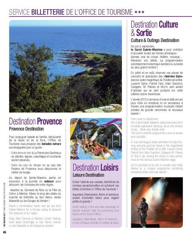 Guide découverte 2013 des activités et loisirs à Sainte-Maxime / Holiday guide '13 of Sainte-Maxime