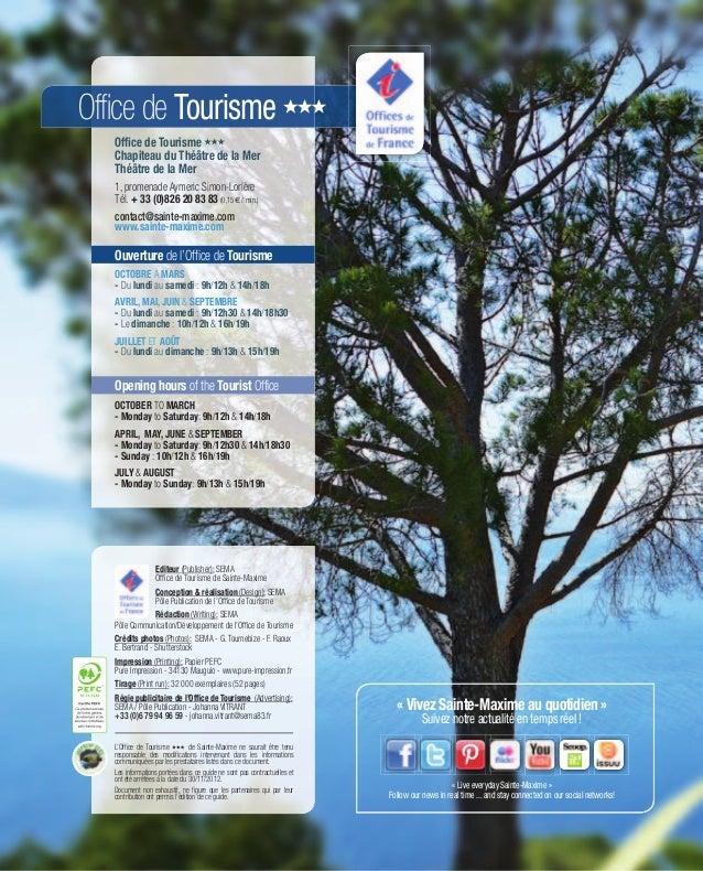Guide d couverte 2013 des activit s et loisirs sainte maxime holi - Office tourisme sainte maxime ...