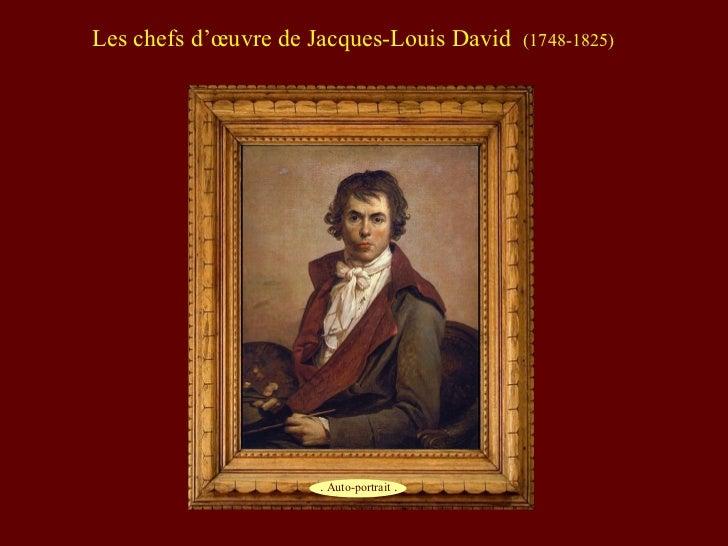 Les chefs d'œuvre de Jacques-Louis David   (1748-1825)                     . Auto-portrait .