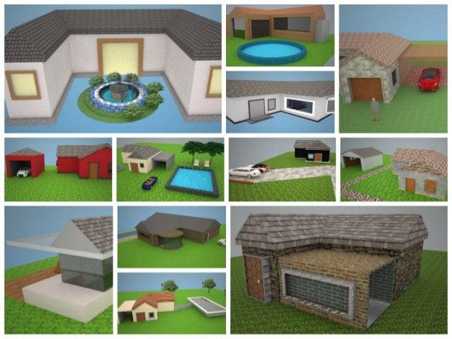 PROYECTOS DESTACADOS MODELACIÓN 3D UNIDAD 2 GRADO 8º 2014 Casa avanzada Elementos de ambiente de la galería 3D