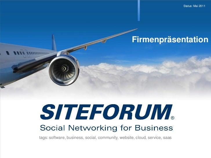 Status: Mai 2011                                                   Firmenpräsentationtags: software, business, social, com...