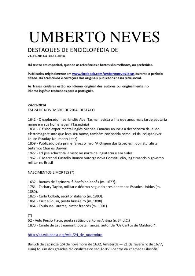 Destaques Enciclopédia 24 11 2014 A 30 11 2014