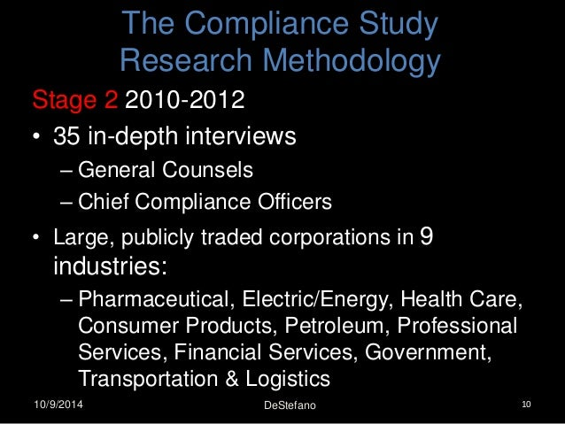 Destefano compliance transparency visibility a u s perspective - Compliance officer interview ...