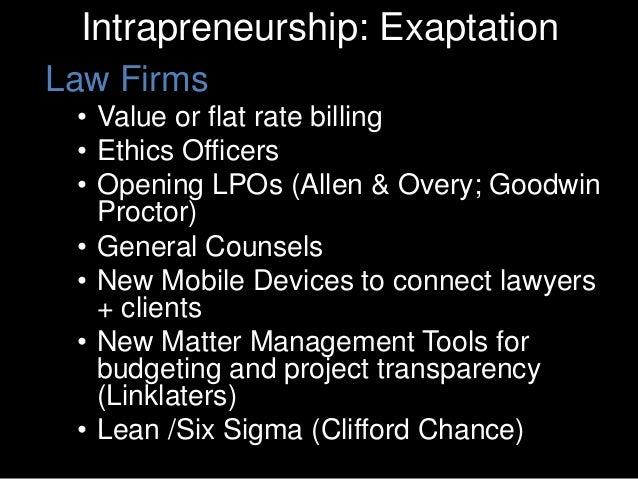 Entrepreneurship in the Law • Axiom • Riverview Law • NovoLawyer • Clearspire • Rocket Lawyer • LegalForce • Total Attorne...
