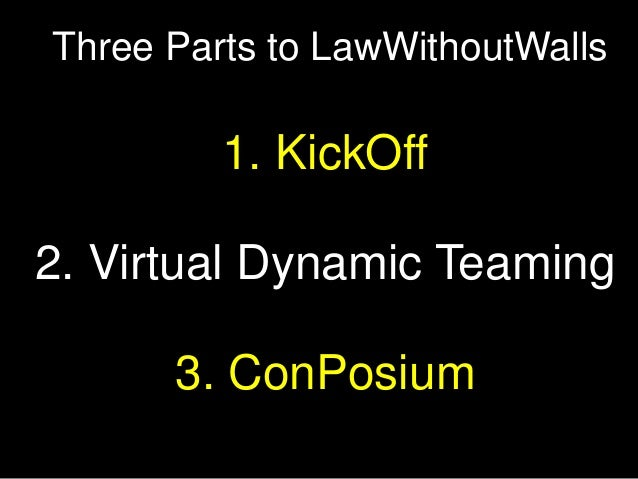 LawWithoutWalls KickOff