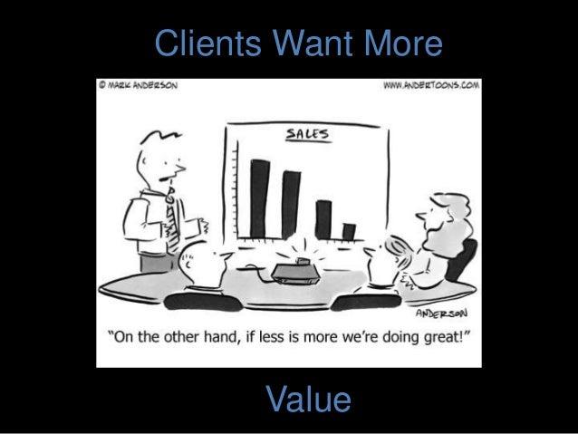 Clients Want More Value
