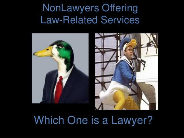 NonLawyers Offering Law-Related Services Which One is a Lawyer?