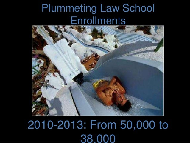 Plummeting Law School Enrollments 2010-2013: From 50,000 to 38,000