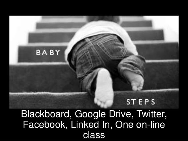 Blackboard, Google Drive, Twitter, Facebook, Linked In, One on-line class