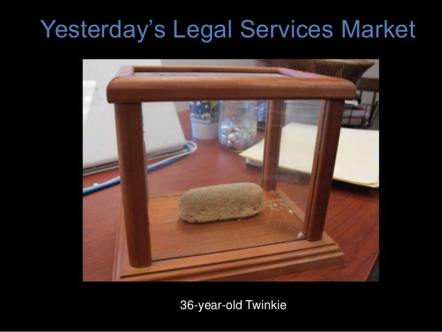 Yesterday's Legal Services Market 36-year-old Twinkie