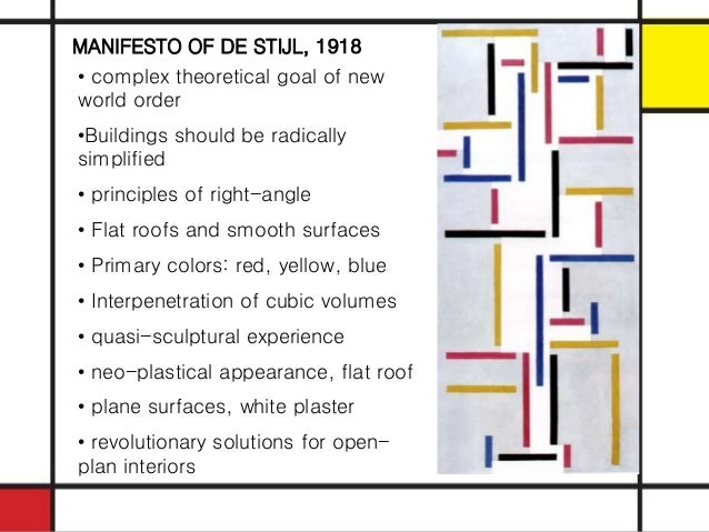 The gallery for --> De Stijl Architecture Characteristics