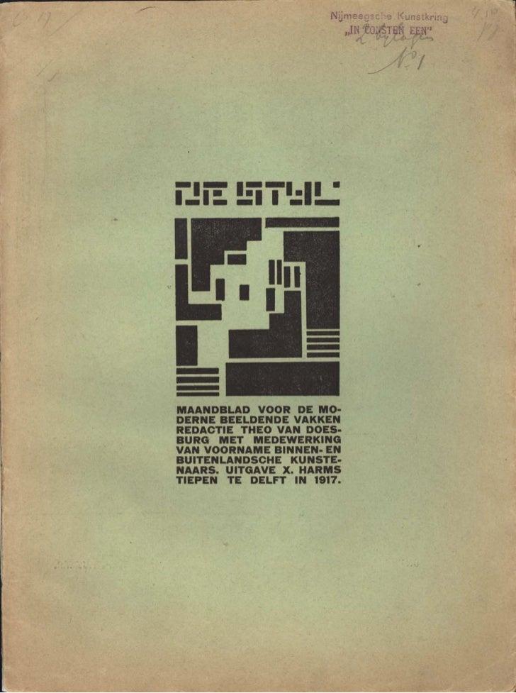De stijl vol. 1 no. 1 [delft october 1917]