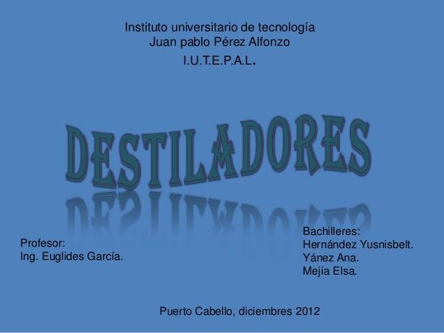 Instituto universitario de tecnología                              Juan pablo Pérez Alfonzo                               ...