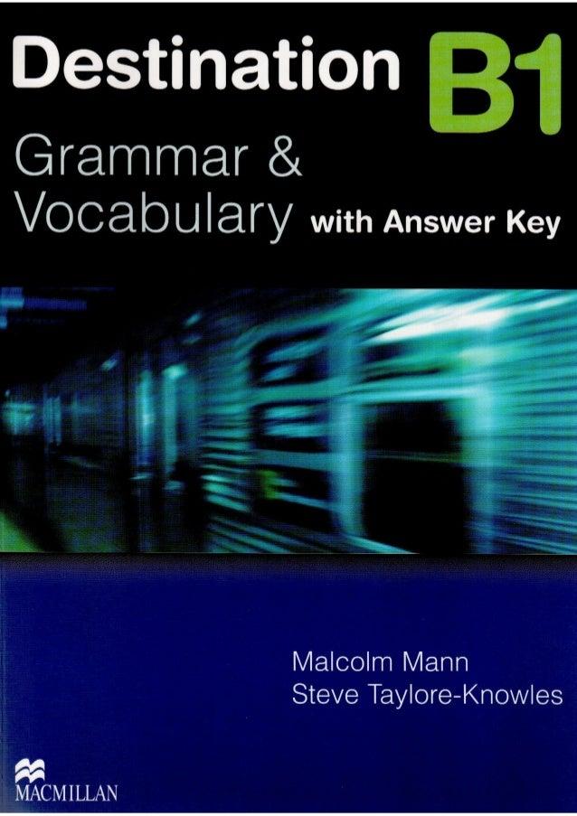 Destination b1 with answer key MacMillan