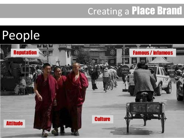 People Creating a Place Brand Culture Attitude Reputation Famous / infamous