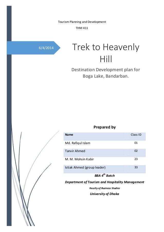 Tourism Destination Development Plan