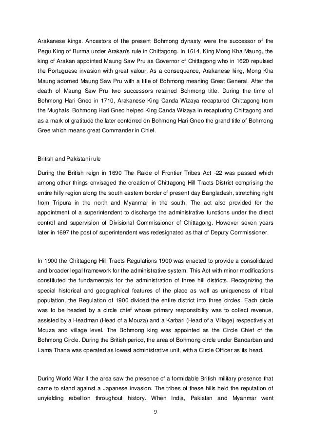 9  Arakanese kings. Ancestors of the present Bohmong dynasty were the successor of the Pegu King of Burma under Arakan's r...