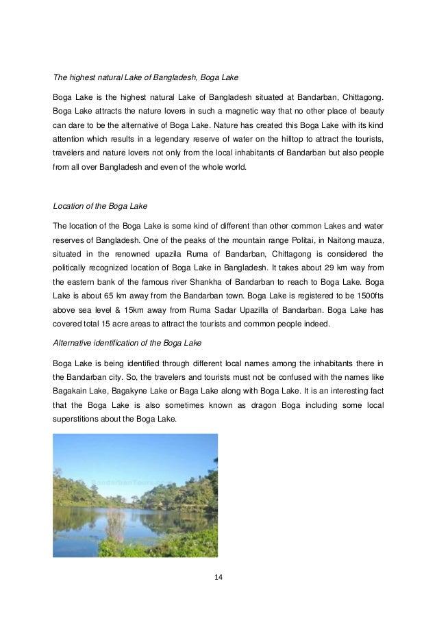 14  The highest natural Lake of Bangladesh, Boga Lake  Boga Lake is the highest natural Lake of Bangladesh situated at Ban...