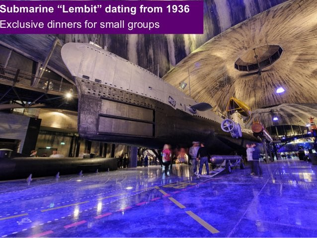 """Submarine """"Lembit"""" dating from 1936 Exclusive dinners for small groups"""