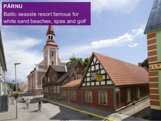 PÄRNU Baltic seaside resort famous for white sand beaches, spas and golf
