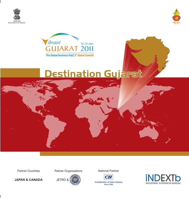 "/«"""" ma '.  .. ... .  Government of Gujarat «El;  giggeln ,   7  ,  , — » ,  lbfdfit 12-13Jan.  I ' The Global Business Hub..."