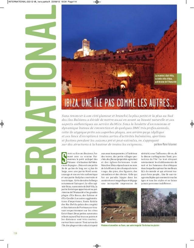 international  INTERNATIONAL-222-G-V8_1ere partie/A 22/08/13 18:34 Page114  La montée à Dalt Villa, la vielle ville d'Ibiz...