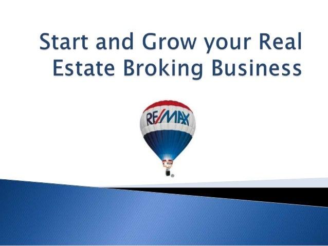 RE/MAX Mumbai Gujarat Maharashtra  History of Real Estate Broking  Why you should start a business of real estate brokin...