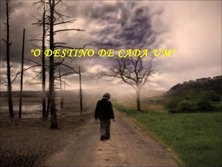 """""""O DESTINO DE CADA UM"""""""