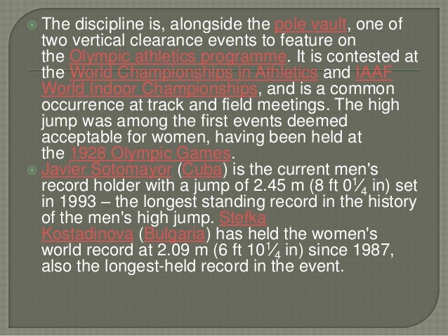 An introduction to the history of track and field in the olympic games