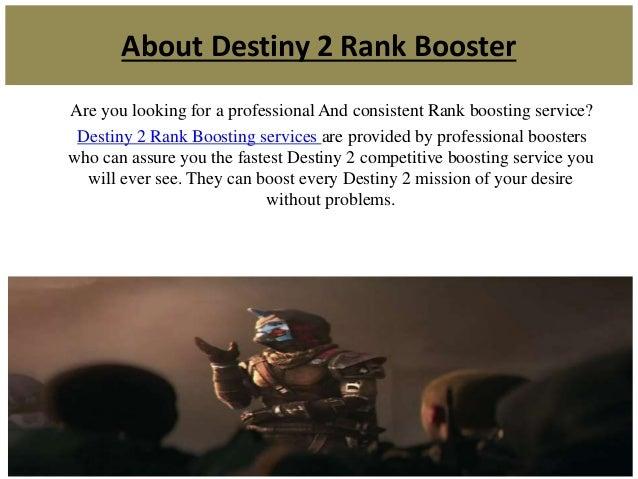 Destiny 2 competitive rank boosting