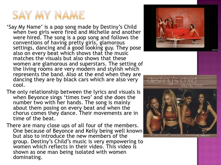 Say My Name - Destiny's Child - Lyrics on Screen - YouTube