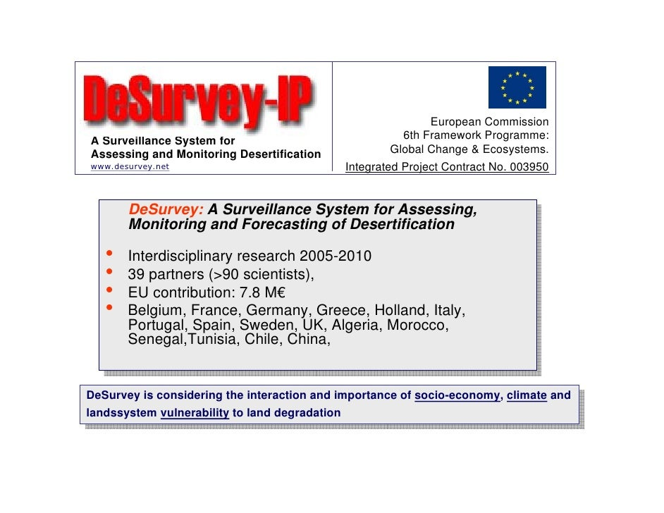 European Commission A Surveillance System for                              6th Framework Programme: Assessing and Monitori...