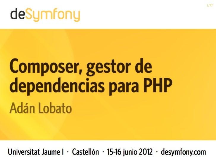 Composer, gestor de dependencias para PHP