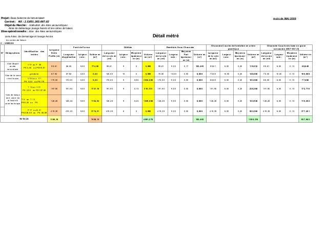 Projet : Base Aerienne de tamanrasset mois de MAI 2009 Contrat : NS : 2.5.851.203.007.02 Objet du Marché : réalisation des...