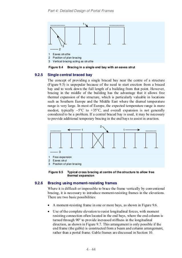 Detailed design of portal frames